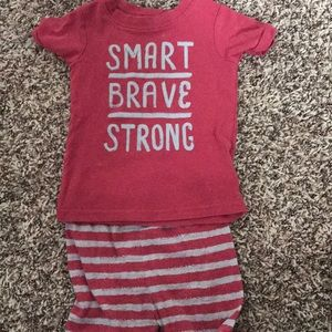 Red and Grey Toddler PJs
